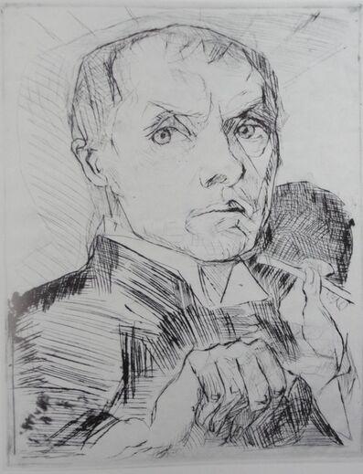 Max Beckmann, 'Selbstbildnis mit Stylus (Self-Portrait with Stylus)', ca. 1916