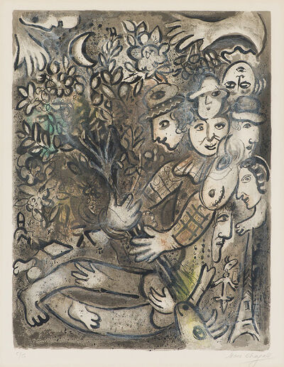 Marc Chagall, 'La famille d'arlequin (M. 430)', 1965