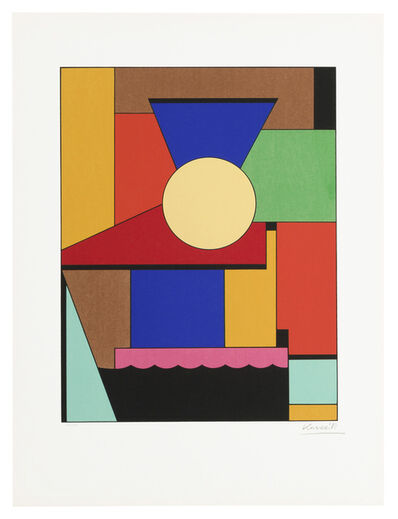 Lajos Kassák, 'Untitled (geometric shapes in color)'