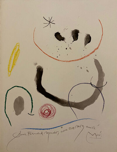 Joan Miró, 'extrait de quelques fleurs pour des amis', 1964