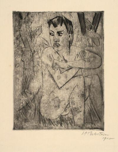 Max Pechstein, 'Vergrämt', 1920