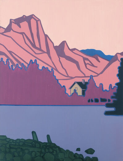 Hubert Schmalix, 'Lakeside House Surrounded by Mountains', 2016