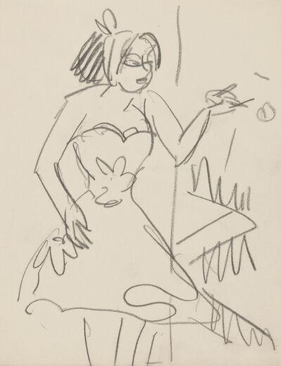 Ernst Ludwig Kirchner, 'Kleine Tänzerin - Kabarettistin', ca. 1910