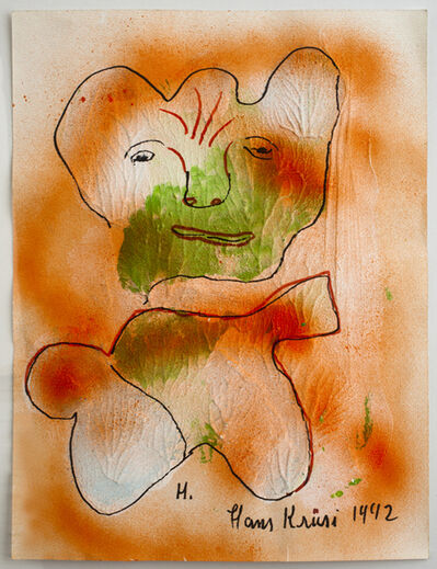 Hans Krüsi, 'Untitled (Red and Green Man)', 1992