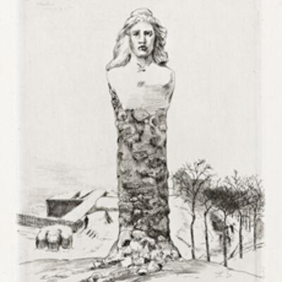 Félix Bracquemond, 'SiŠge de Paris en 1870: cinq eaux-fortes', 1874