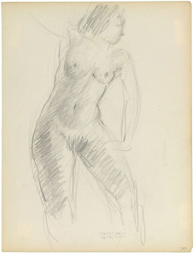 Charles White, 'STANDING NUDE WITH HAND ON HIP'