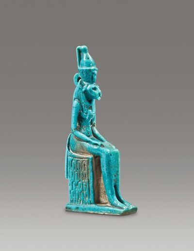 Unknown Egyptian, 'Ancient Egyptian Faience Amulet of the Goddess Bastet', 40, 000.00 Egyptian, 3rd Intermediate Period, ca. 10th, 8th century B.C.