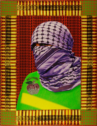 Laila Shawa, 'Fashionista Terrorista II (The Walls of Gaza III)', 2011