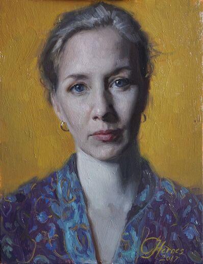 Cornelia Hernes, 'Self Portrait in Gold', 2017