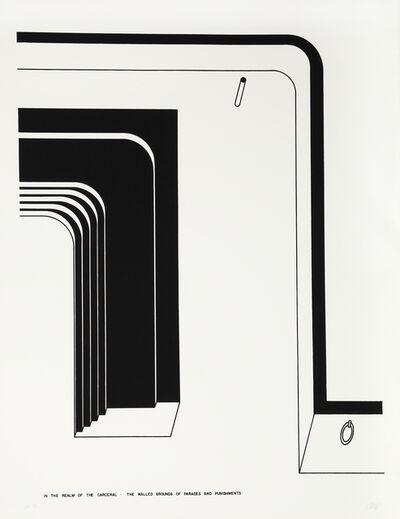 Robert Morris (b. 1931), 'The Walled Grounds of Parade and Punishment', 1978