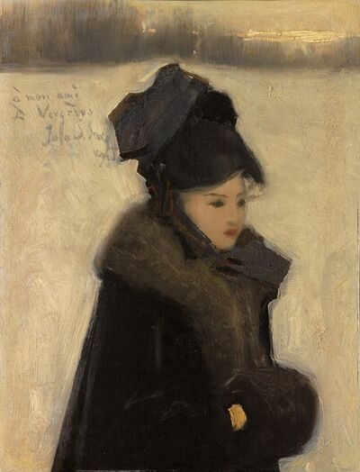 John Singer Sargent, 'Woman with Furs', 1880-1885