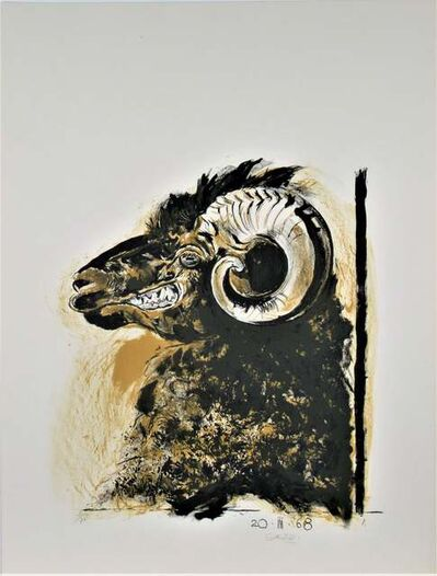 """Graham Vivien Sutherland, '""""Ram's Head"""" from the suite """"Bestiary and some Correspondences"""" ', 1968"""