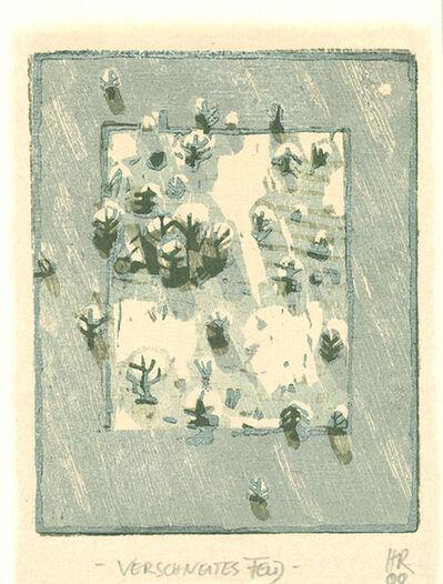 Hans Christian Rüngeler, 'Verschneites Feld', 2000