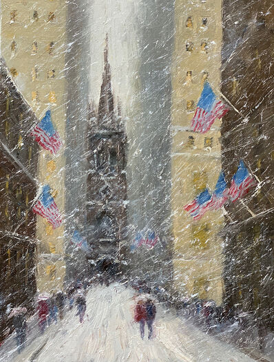 Mark Daly, 'Winter Flag, Old Trinity Church', 2019
