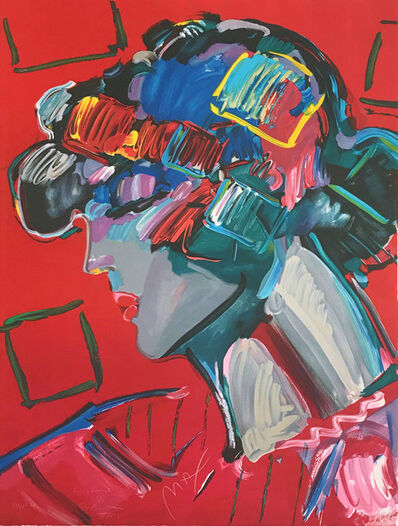 Peter Max, 'CRIMSON LADY', 1987