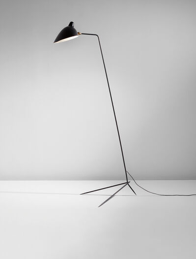 """Serge Mouille, 'Simple floor lamp with """"Lampadaire"""" shade', designed 1953"""
