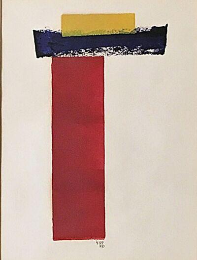 Lyman Kipp, 'Untitled mid century modern Minimalist painting', 1970