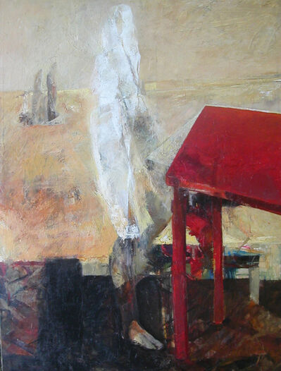 Waldemar Mitrowski, 'Figure with Red Table', 2014