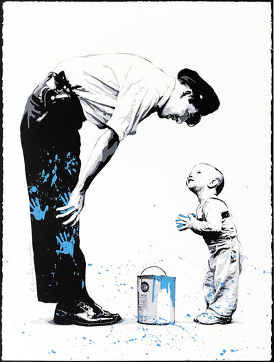 Mr. Brainwash, 'NOT GUILTY (BLUE)', 2011