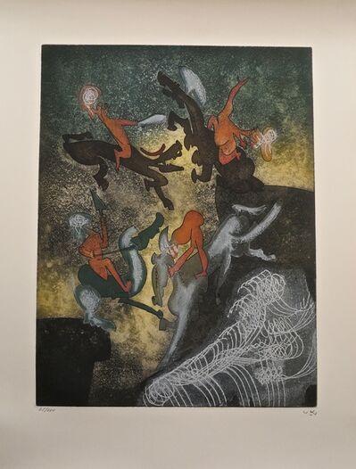 Roberto Matta, 'Hom'mere Chaosmos - Au son du sang', 1975