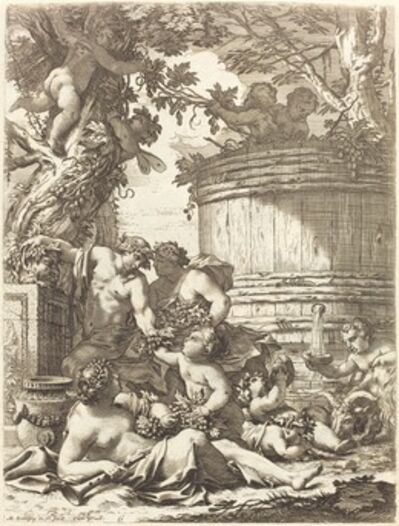 Michel Dorigny, 'Putti with Grapes and a Seated Bacchante', 1650s
