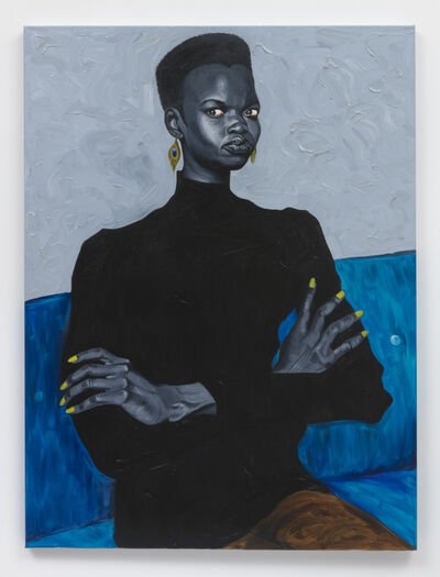 Otis Kwame Kye Quaicoe, 'Nykhor on Blue Couch', 2019