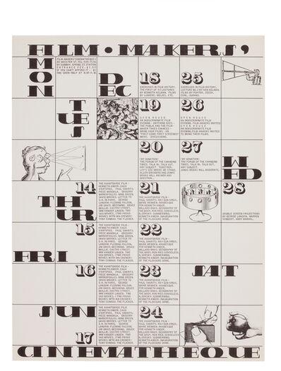 George Maciunas, 'Film Maker's Cinematheque Calendar ', 1967