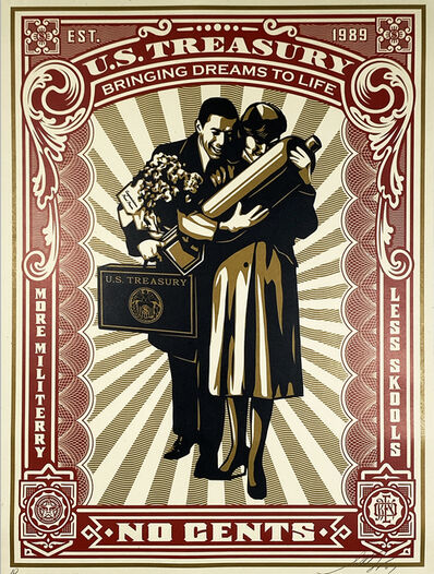 Shepard Fairey, ''Proud Parents' (RARE A/P)', 2007