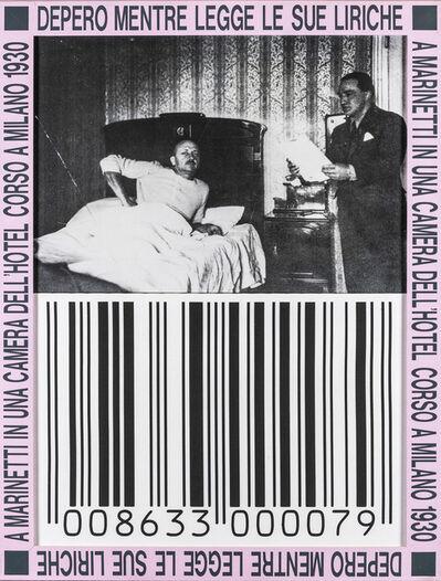 Franco Vaccari, 'Depero mentre legge le sue liriche a Marinetti in una camera dell'Hotel Corso a Milano 1930', 1989-95