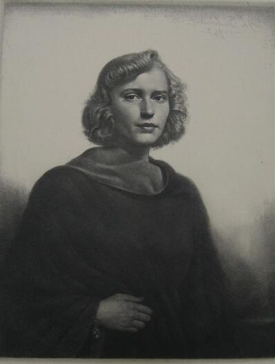Gerald Leslie Brockhurst, 'The Black Coat', 1943