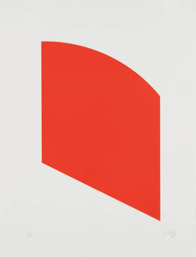 Ellsworth Kelly, 'Red, from Fourth Curve', 2003