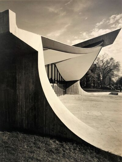 Pedro E. Guerrero, 'Yale Skating Rink, Entrance Exterior, New Haven, CT (Eero Saarinen, Architect)', 1958