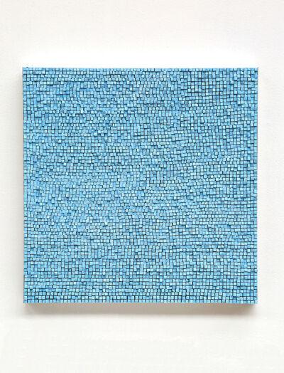 Reiner Seliger, 'Kreidebild hellblau, groß', 2017