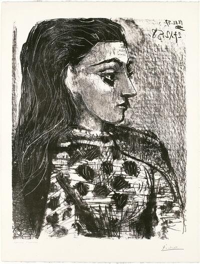Pablo Picasso, 'Buste au Corsage à Carreaux', 1958