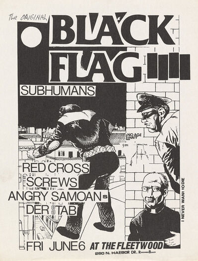 Raymond Pettibon, 'Raymond Perribon Black Flag at Fleetwood', 1980