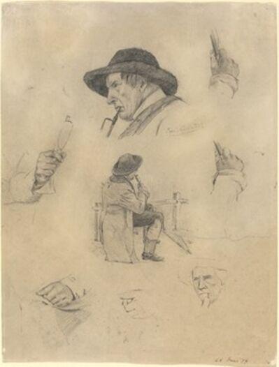 Lovis Corinth, 'Sheet of Sketches', 1877