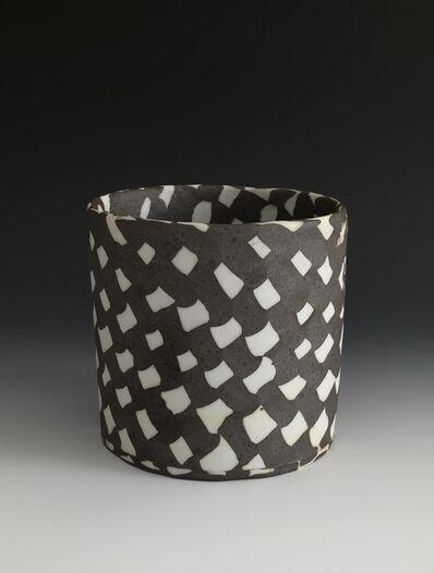 Lorraine Shemesh, 'Medium Black & White Woven Neriage Cylinder', 2017