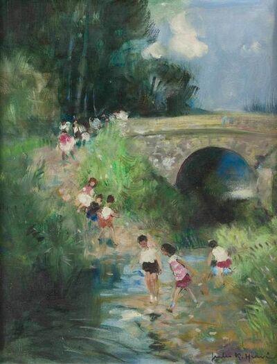 Jules René Hervé, 'Playing By the Stream'