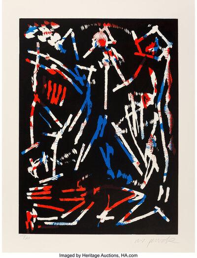 A.R. Penck, 'Mul, Bul, Dang & Sentimentality from Official Arts Portfolio of the XXIVth Olympiad, Seoul, Korea', 1988