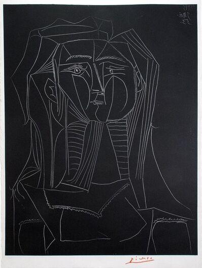 Pablo Picasso, 'Tête sur fond noir', 1953