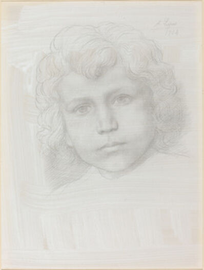 Alphonse Legros, 'Study of Cupid (Head of a Girl)', 1904
