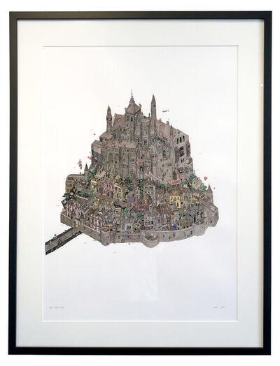 Guillaume Cornet, 'Mont Saint Michel - Dark Watercolours', 2015