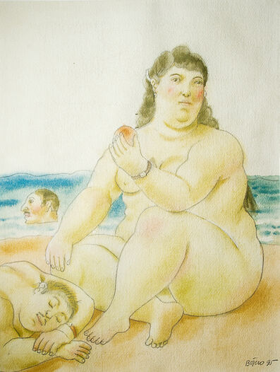 Fernando Botero, 'On the Beach'