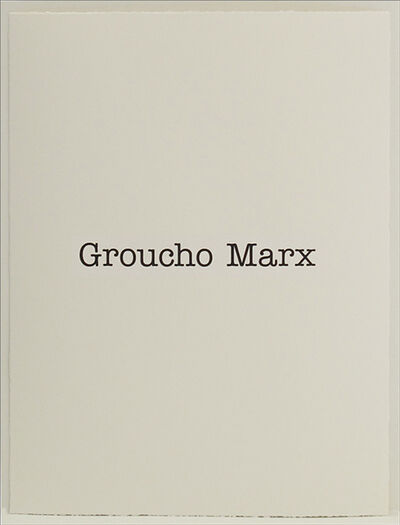 Simon Patterson, 'Groucho Marx', 2018