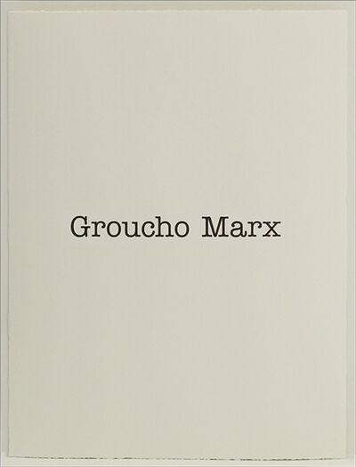 Simon Patterson, 'Groucho Marx', 2018