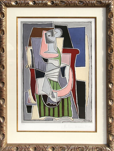 Pablo Picasso, 'Femme au Tablier Rayer Vert, 2-B', 1979-1982