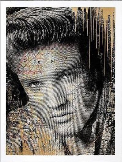 Mr. Brainwash, 'KING OF ROCK (ELVIS PRESLEY) GOLD', 2017