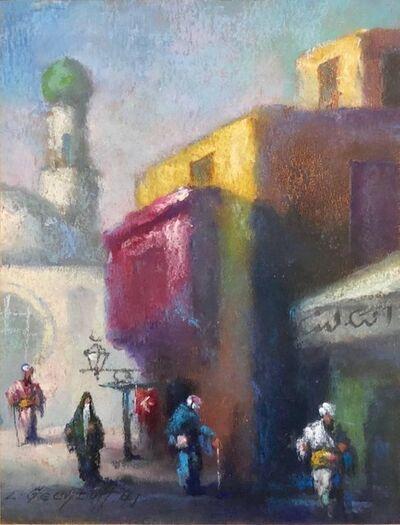 Leonid Gechtoff, 'Orientalist Cairo Market Street Scene, Middle Eastern Bazaar', Early 20th Century