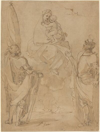 Lodovico Carracci, 'The Virgin and Child Appearing to Saints George and William'