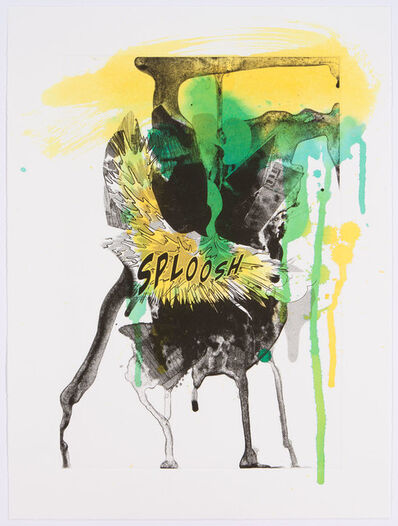 Christian Marclay, 'Sploosh (Handpainted)', 2012